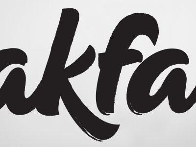 Breakfast (detail) typography logo calligraphy packaging