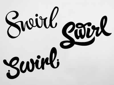 Swirl type typography hand lettering packaging calligraphy