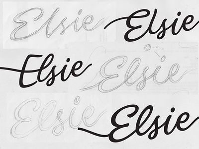 Elsie sketches beer hand crafted letters custom type bespoke calligraphy sketch logo hand drawn script packaging branding hand lettering logotype lettering type typography