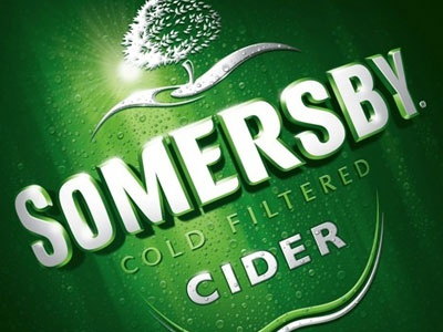 Somersby on Pack logo logotype packaging cider typography