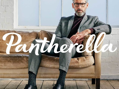 Pantherella Logo signature vector custom type brand hand crafted bespoke hand drawn logotype hand lettering typography script branding calligraphy socks fashion lettering type logo