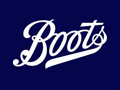 Boots Logo script bespoke branding calligraphy hand lettering logotype lettering logo type typography