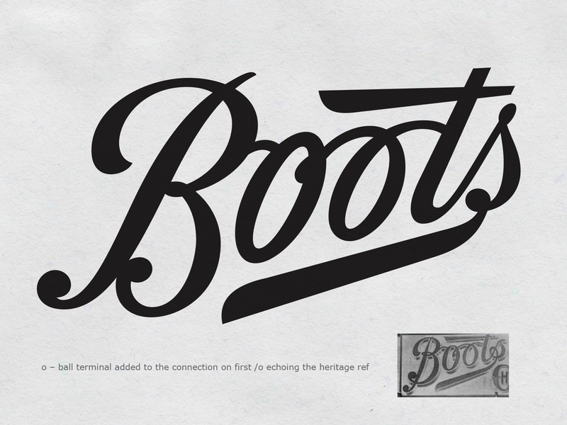 Boots Explore hand drawn script branding hand lettering logotype lettering logo type process sketch typography