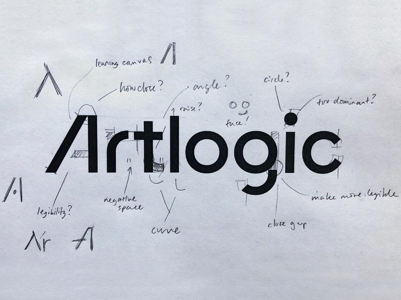 Artlogic Logo Process hand lettering art bespoke custom type hand drawn branding logotype lettering type typography logo