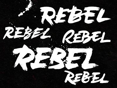 Rebel Rebel logotype branding bespoke hand drawn ink script calligraphy hand lettering lettering logo