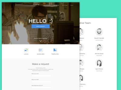Creative Team Page