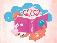 Piper & Darla - Book about cats - digital illustration