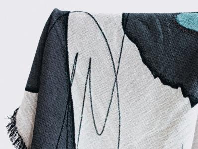 No. 87 throw blanket home goods illustration
