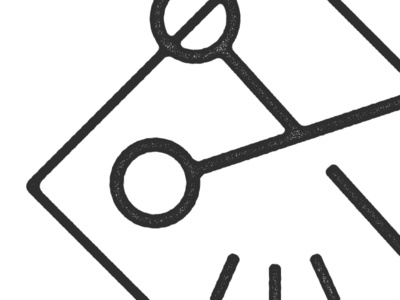 Barber's Beard — In Progress barber texture stamp logo