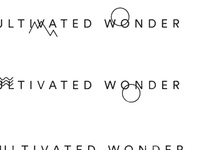Cultivated Wonder – Logo exploration