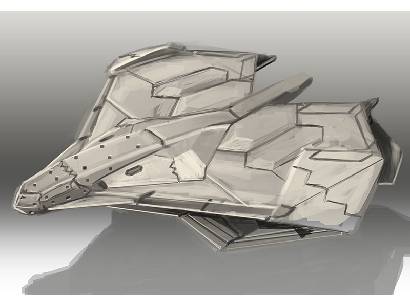 Spontaneous Fighter paper receipt payment aircraft jet fighter sketch stealth hexagonal vtol