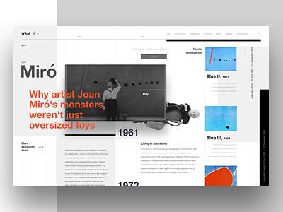 Institut Valencià d'Art Modern | IVAM Joan Miró ukraine website web ux ui typography landing grid art modern design museum