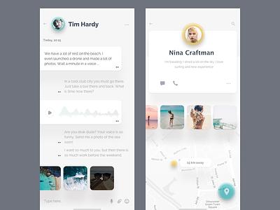 Community - app for surfers chat ui profile sketch ukraine iphonex iphone ios mobile web landing website