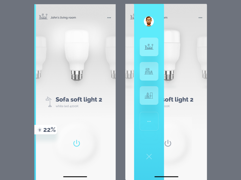 lght - light control app mobile interaction lamp control android mobile animation ios light smart home ux web ukraine ui