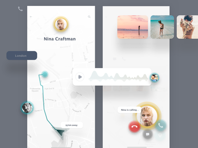 Community - app for surfers uikit navigation map landing web mobile ios iphone iphonex ukraine sketch profile ui chat