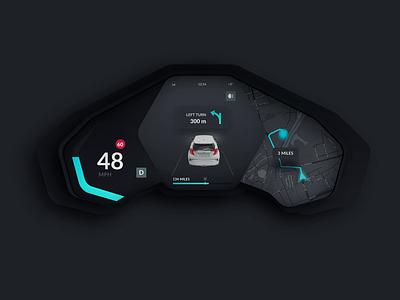 Qita Eva Car Dashboard landing iphonex web tesla electro ios interaction after effect animation gif ux animation uidesign car app dasboard interaction design mobile ukraine ui