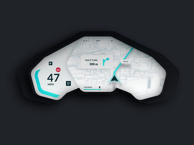 Qita Eva Car Dashboard Day Light Theme 3d ui ukraine mobile interaction design dasboard car app uidesign ux animation gif animation after effect interaction ios electro tesla web iphonex landing