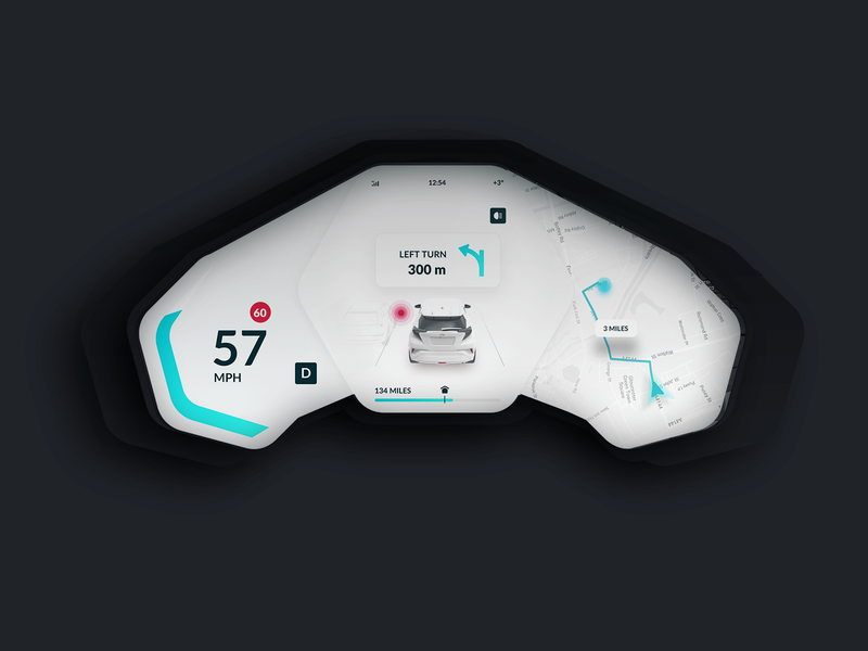 Qita Eva Car Dashboard Day Light Theme landing iphonex web tesla electro ios interaction after effect animation gif ux animation uidesign car app dasboard interaction design mobile ukraine ui 3d
