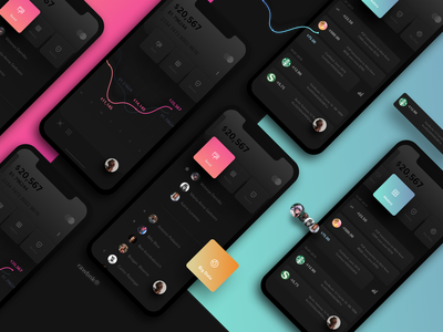 rawbnk® banking app dark theme web crypto currency crypto wallet bitcoin wallet ux ui payment iphone ios mobile flat finance cryptocurrency banking ukraine