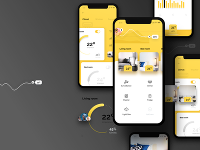 smrt® home control saving app temperature controls ui ukraine web ux smart home light ios android control lamp interaction mobile