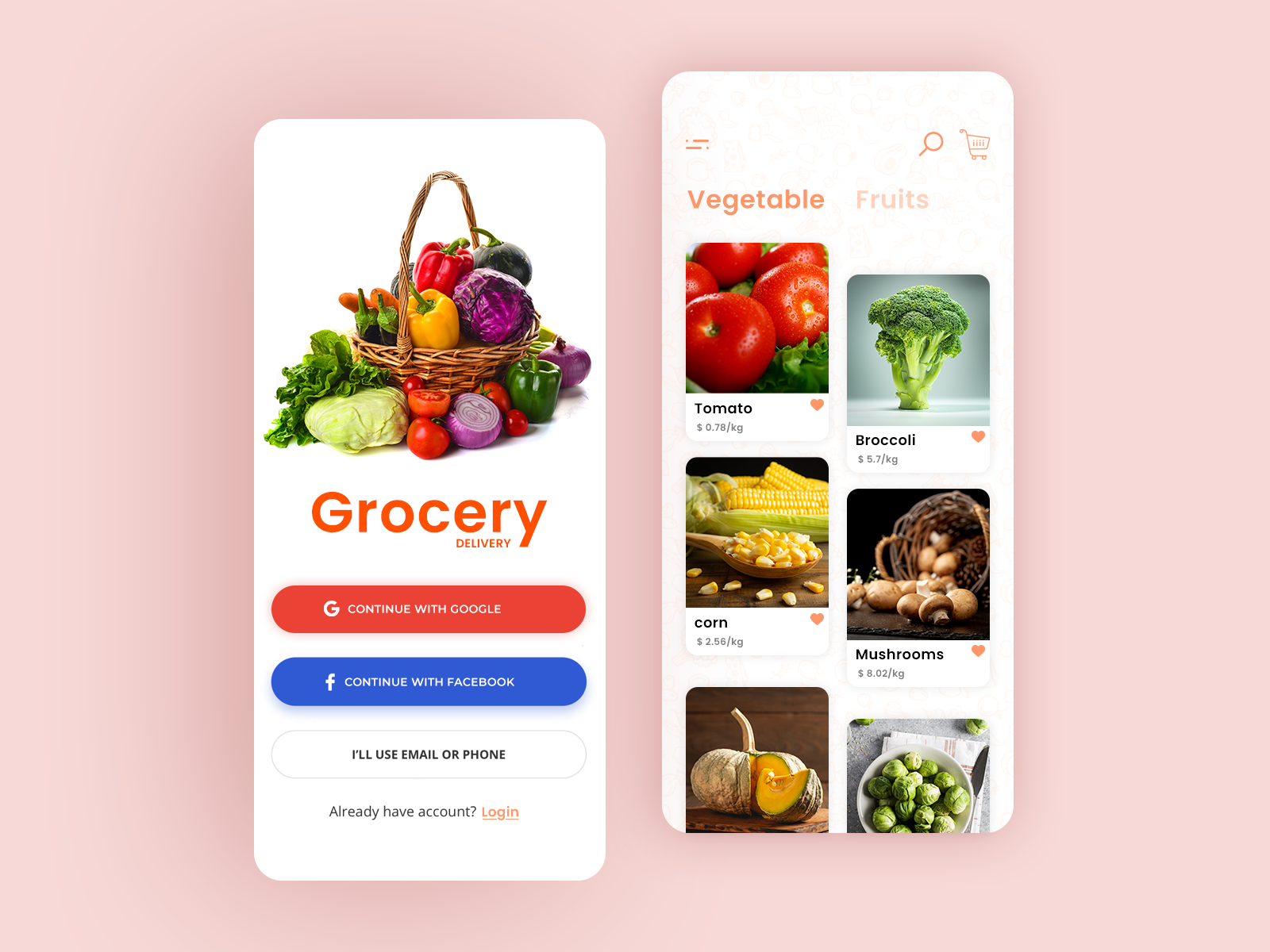 Grocery Delivery App Prototype