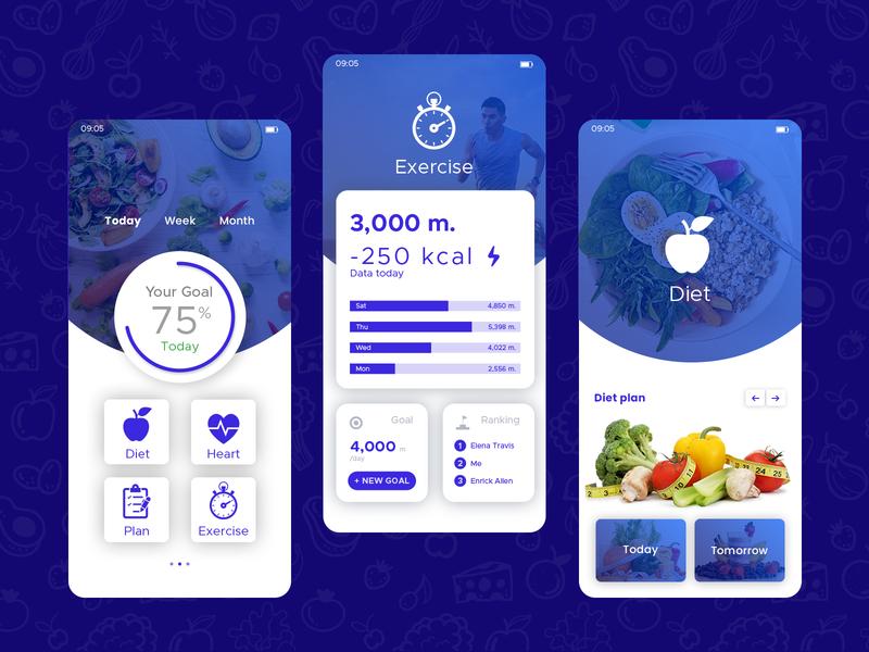 Diet & Nutrition App Design