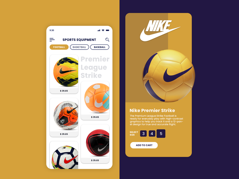 Sports Equipment Store App