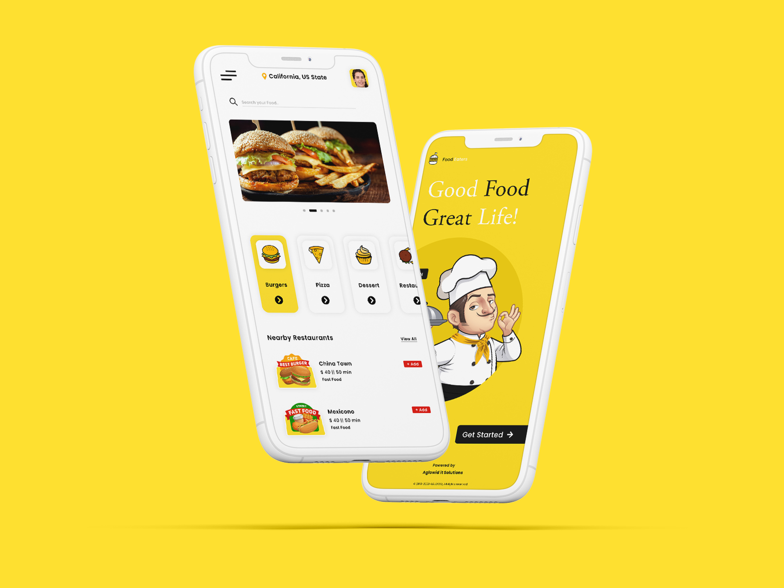 Our Dribbble Shot - Food Delivery App