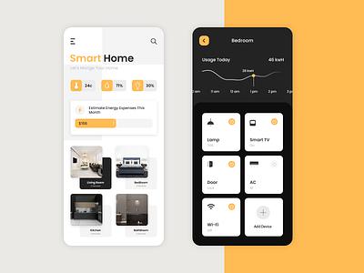 Smart Home App on-demand smart home app app ux ui uiux app design mobile app development company app development smart home app design home automation hub smart home app smarthome