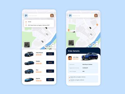 Taxi Booking App design inspiration uiux ui cab booking app car pooling app ride sharing app taxi booking app