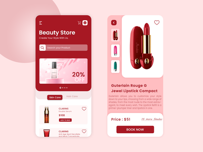 Beauty Store App mobile app design uiux design uiux ux ui on-demand app development ecommerce app mobile app development company app design app development beauty and wellness app on-demand beauty store online cosmetics store cosmetics app beauty store app beauty app