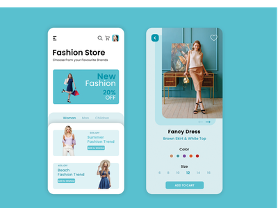 Fashion App fashion app developers ecommerce app ui uiux