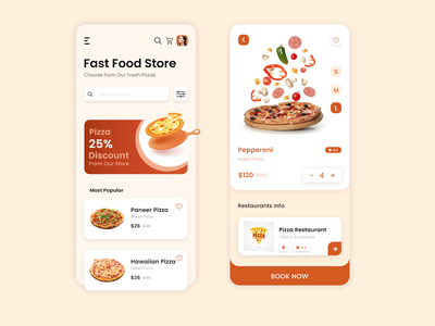Pizza Ordering App ui design pizza ordering app mobile app development company uiux ui