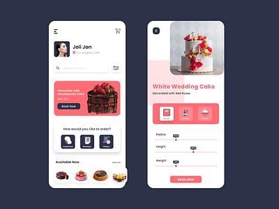 Cake Selling App cake delivery app app design ui uix uiux app development mobile app design on-demand app development online cake delivery online cake shope online cake selling cake selling app