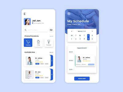 Dentist App mobile app development mobile app developer uiux ux ui