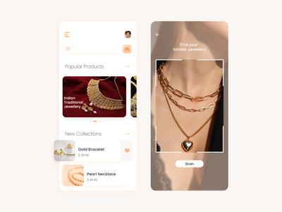 Online Jewelry App uiux on demand app app development app design jewellery app online jewellery