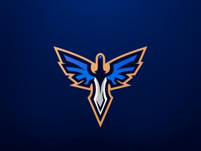 Wings Of Death Mascot Logo