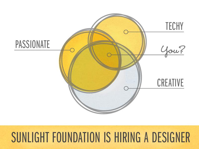 Web Designer Wanted sunlight foundation job hiring wanted nonprofit texture venn diagram