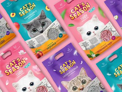 Package   Cat's season cats packagedesign packaging package brand design