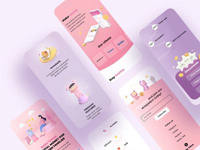Interface   Baby token 3d mobile site design site interface ux ui design