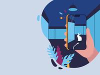 Illustration for mobile service