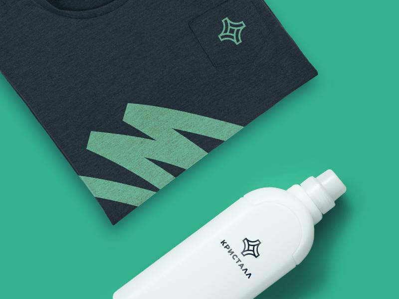 Logo | Crystal crystal cleaning green logo illustration design branding brand