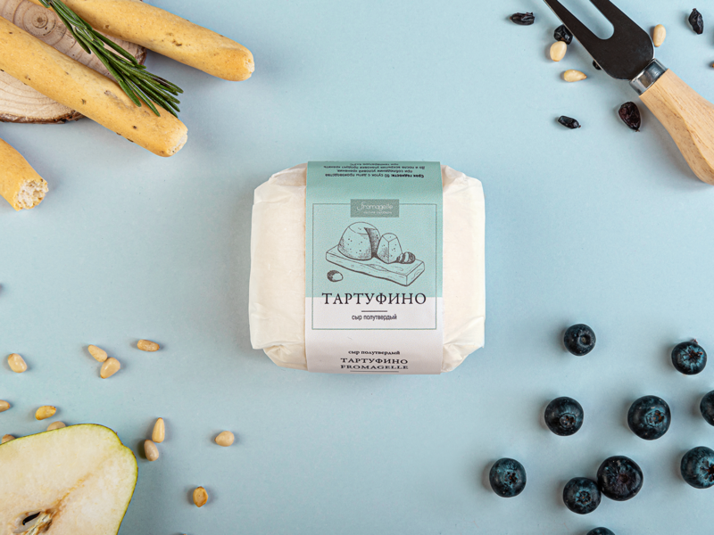 Package | Fromagelle blue cheese packaging design logo illustration branding brand