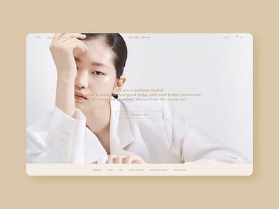 Beauté Library Homepage design uibycal skincare facial beauté library ui