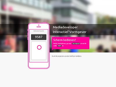 Graduation Exposition mobile device controll app websocket graduation exposition mediacollege webdesign