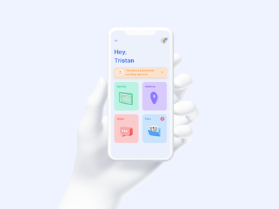 Scan ID pastel concept shadow illustration apple ios big sur 3d security identity figma ux interaction product ui