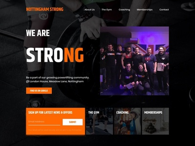 Nottingham Strong Website Redesign