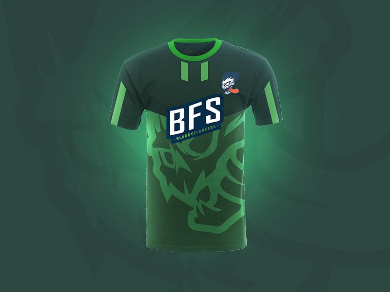 Esport Tshirt BFS esports logo branding tshirt design logo