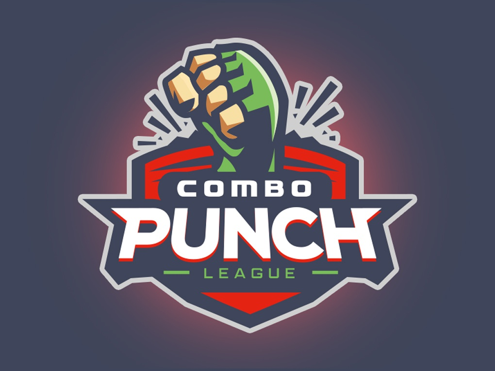 Combo Punch League illustration punch fist league sports logo fgc flat esports logo branding logo
