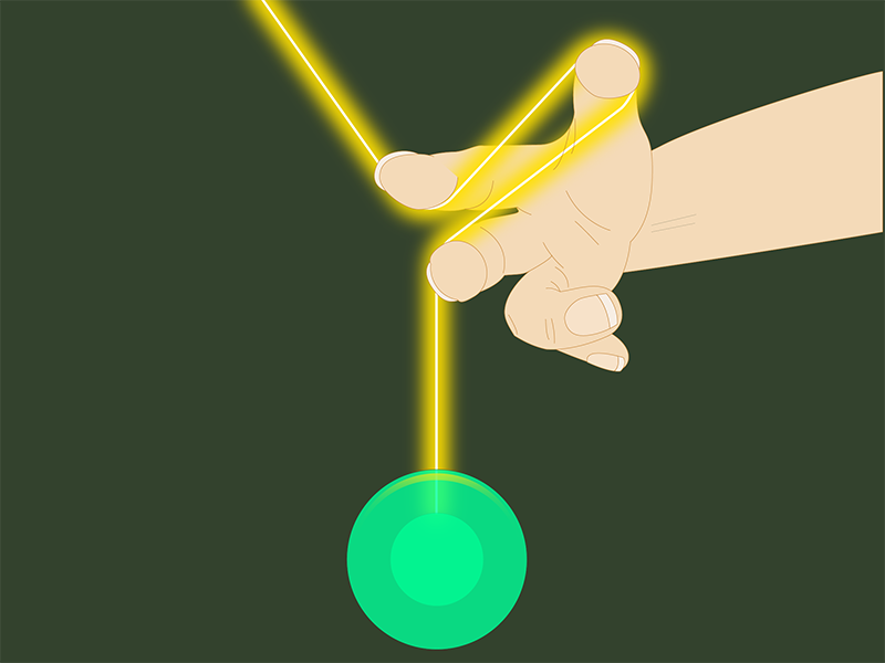 36days - Y illustration yoyo yellow y green glow 36 days 36 days of type vector
